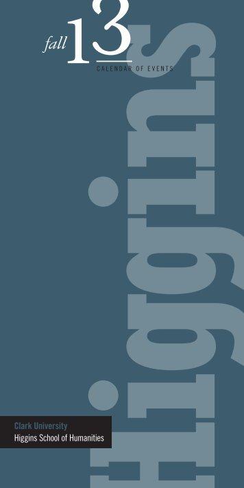 13 Calendar [PDF] - Clark University