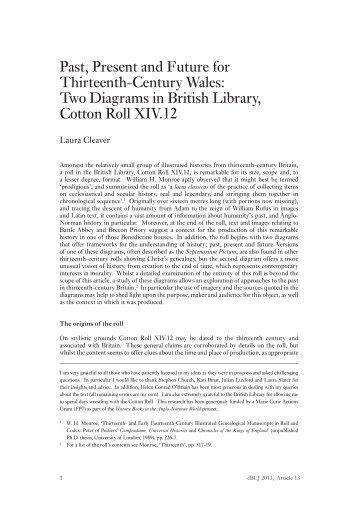 Past, Present and Future for Thirteenth-Century ... - British Library