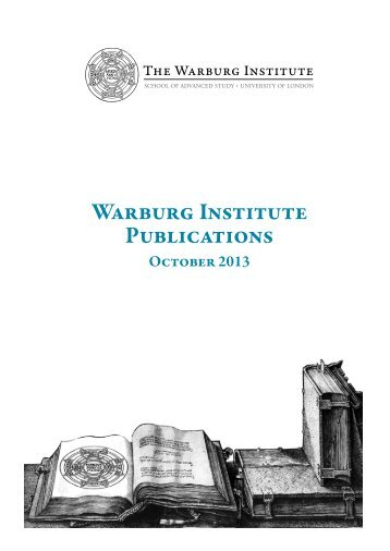 Warburg Institute Publications - School of Advanced Study
