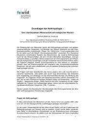 Grundlagen der Anthropologie - Gerhard Medicus - TA2013-3 - fowid
