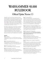 40K RULEBOOK v1.5 - Games Workshop