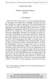 Freiheit und Determinismus (Teil I) - KOPS