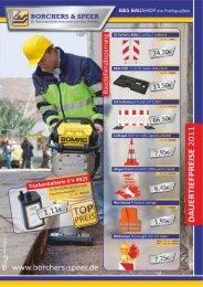 Dauertiefpreise Flyer August 2011 - Borchers & Speer