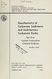 Geochemistry of carbonate sediments and sedimentary ... - Ideals