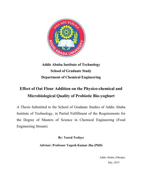 Yared Tesfaye pdf - It works - Addis Ababa University