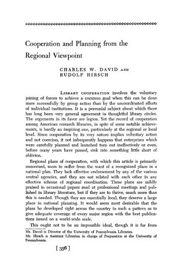 Cooperation and Planning from the Regional Viewpoint - Ideals