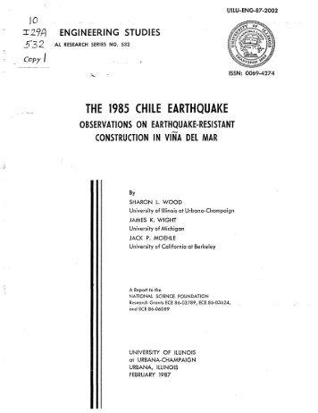 the 1985 chile earthquake - ideals - University of Illinois at Urbana ...
