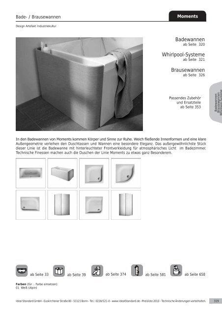 Badewannen Whirlpool-Systeme Brausewannen - Ideal Standard
