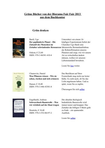 Fair Fair Bücher - Buchkontor