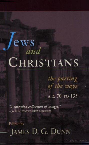 Jews and Christians.pdf - Friends of the Sabbath Australia