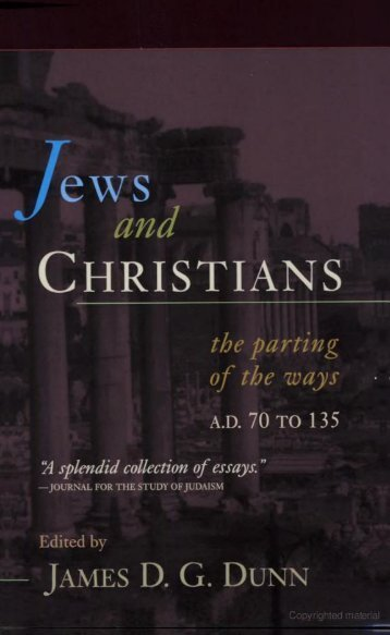 Jews and Christians.pdf - Friends of the Sabbath Australia