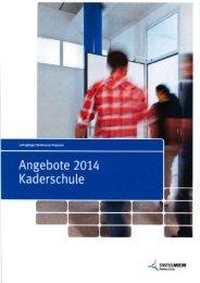 Angebote 2014 - Swissmem Kaderschule