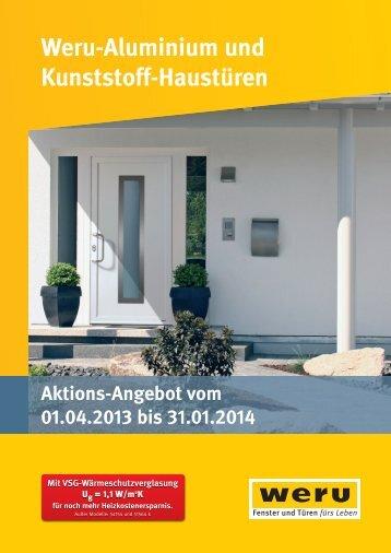 Weru-Aluminium und Kunststoff-Haustüren Aktions-Angebot vom ...