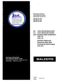 Pfeiffer Balzers TPH 110 TPU 110 Turbo Molecular Pump with ...