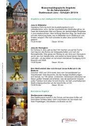 Museumspädagogische Angebote für die Sekundarstufe I ... - Jena