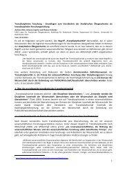 Transdisziplinarität und Analytische Ökogeochemie - Department für ...