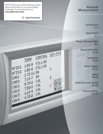 Vacuum Measurement Catalog Section - Ideal Vacuum Products