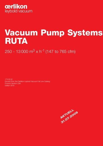 RUTA Roots Blower Vacuum Systems - Ideal Vacuum Products