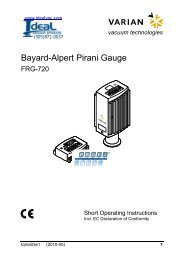 Varain FRG-720 Bayard Alpert Pirani Gauge - Ideal Vacuum Products