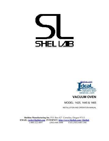 Shel Lab Vacuum Oven 1425, 1445, 1465 - Ideal Vacuum Products