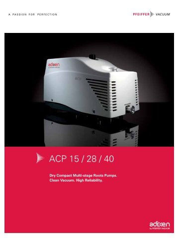 ACP 15 / 28 / 40 - Ideal Vacuum Products