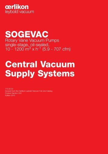 SOGEVAC Rotary Vane Vacuum Pumps.pdf - Ideal Vacuum Products