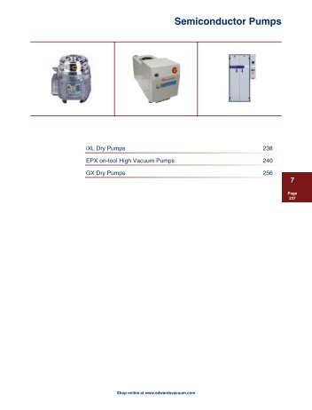 Semiconductor Pumps - Ideal Vacuum Products