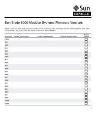 Sun Blade 6000 Modular Systems Firmware Version - Oracle ...