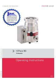 Pfeiffer Turbopump HiPace 80 Operating Instructions - Ideal Vacuum ...