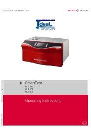 Operating Instructions SmartTest - Ideal Vacuum Products