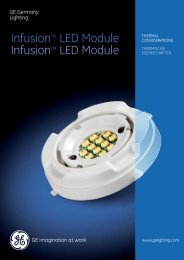 "LED Infusionâ""¢ Module / Thermal Considerations ... - GE Lighting"