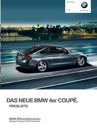 Gratis-Preisliste BMW 4er Coupé (pdf) - Auto Motor und Sport