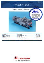 Edwards Drystar GV80 Vacuum Pumps - Ideal Vacuum Products