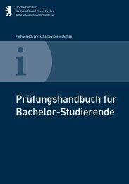 Prüfungshandbuch - Hochschule für Wirtschaft und Recht Berlin