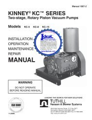 KINNEY KC SERIES, Manual 1807-2, Two-stage, Rotary Piston ...