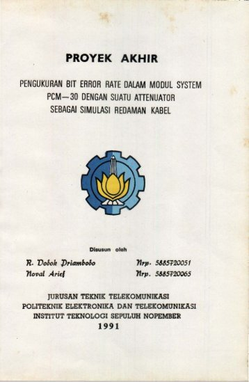 pengukuran bir error rate dalam modul system pcm-30 ... - Digilib ITS