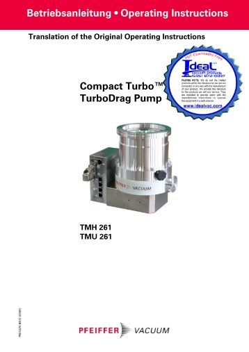 Compact Turbo Turbodrag Pump - Ideal Vacuum Products