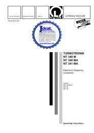 TURBOTRONIK NT 340 M, NT 340 MA, and NT - Ideal Vacuum ...