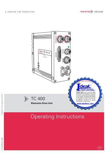 Pfeiffer, TC 400, Electronic Drive Unit, Operating_Instructions