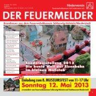 2013, Ausgabe 16 - Feuerwehrmuseum Schleswig-Holstein