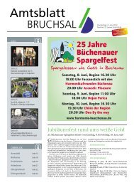 Amtsblatt KW 23/2013 - Bruchsal