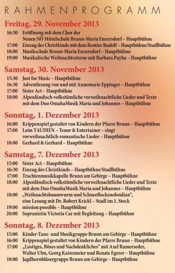 Programm - Brunn am Gebirge
