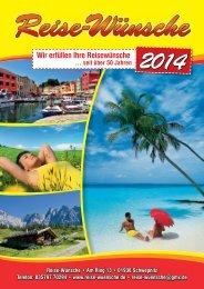können Sie den neuen Reisekatalog 2014 - Reise-Wuensche
