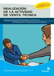 realización de la actividad de venta técnica - Ideaspropias Editorial