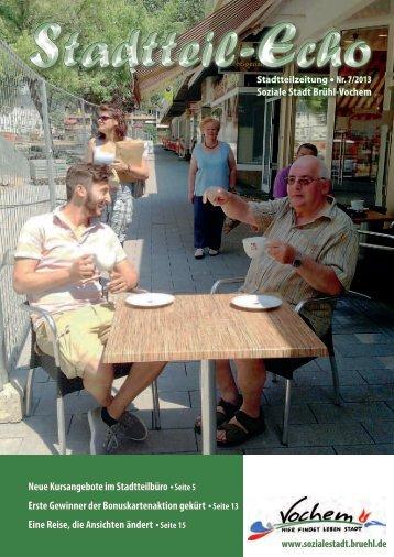 Stadtteil-Echo Stadtteilzeitung Nr. 7/2013 Soziale Stadt Brühl-Vochem