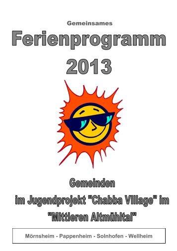 Ferienprogramm 2013 - Stadt Pappenheim