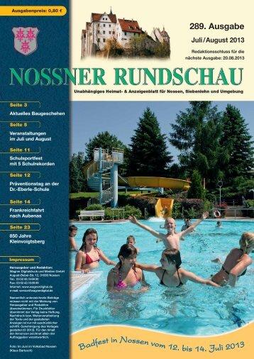 Badfest in Nossenvom12. bis 14. Juli 2013 - nossner-rundschau.de