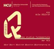 Q-Semesterprogramm - HafenCity Universität Hamburg