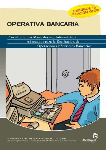 OPERATIVA BANCARIA - Ideaspropias Editorial