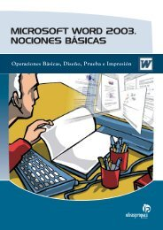 microsoft word 2003. nociones básicas - Ideaspropias Editorial